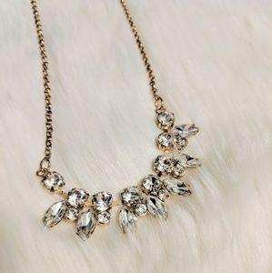 Gold Diamond Centerpiece Necklace